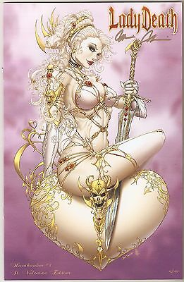 Lady Death Heartbreaker 1. St Valentine Edition. #9/99. Tyndall Cover w/Crystals