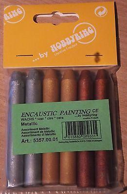 Encaustic Painting - Wachs Farben: metallic