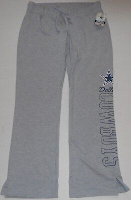(DALLAS COWBOYS AUTHENTIC APPAREL WOMEN'S SWEATPANTS S M L XL GRAY COTTON BLEND)