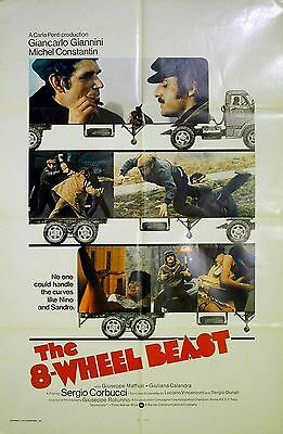 8-WHEEL BEAST 1974 Giancarlo Giannini Sergio Corbucci US 1-SHEET POSTER