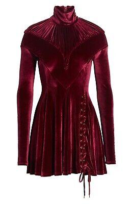 New Y PROJECT Tie Hem Velvet Minidress Size 38 MSRP $1445