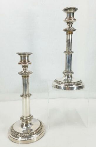 Antique English Sheffield Silver Plate Telescoping Candlesticks MATTHEW BOULTON
