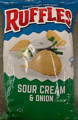 NEW RUFFLES SOUR CREAM & ONION FLAVORED POTATO CHIPS 8.5 OZ BAG FREE SHIPPING Sour Cream Onion Potato