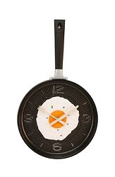 Frying Pan with Fried Egg Shaped Wall Clock Shabby Chic Kitchen... Free Shipping