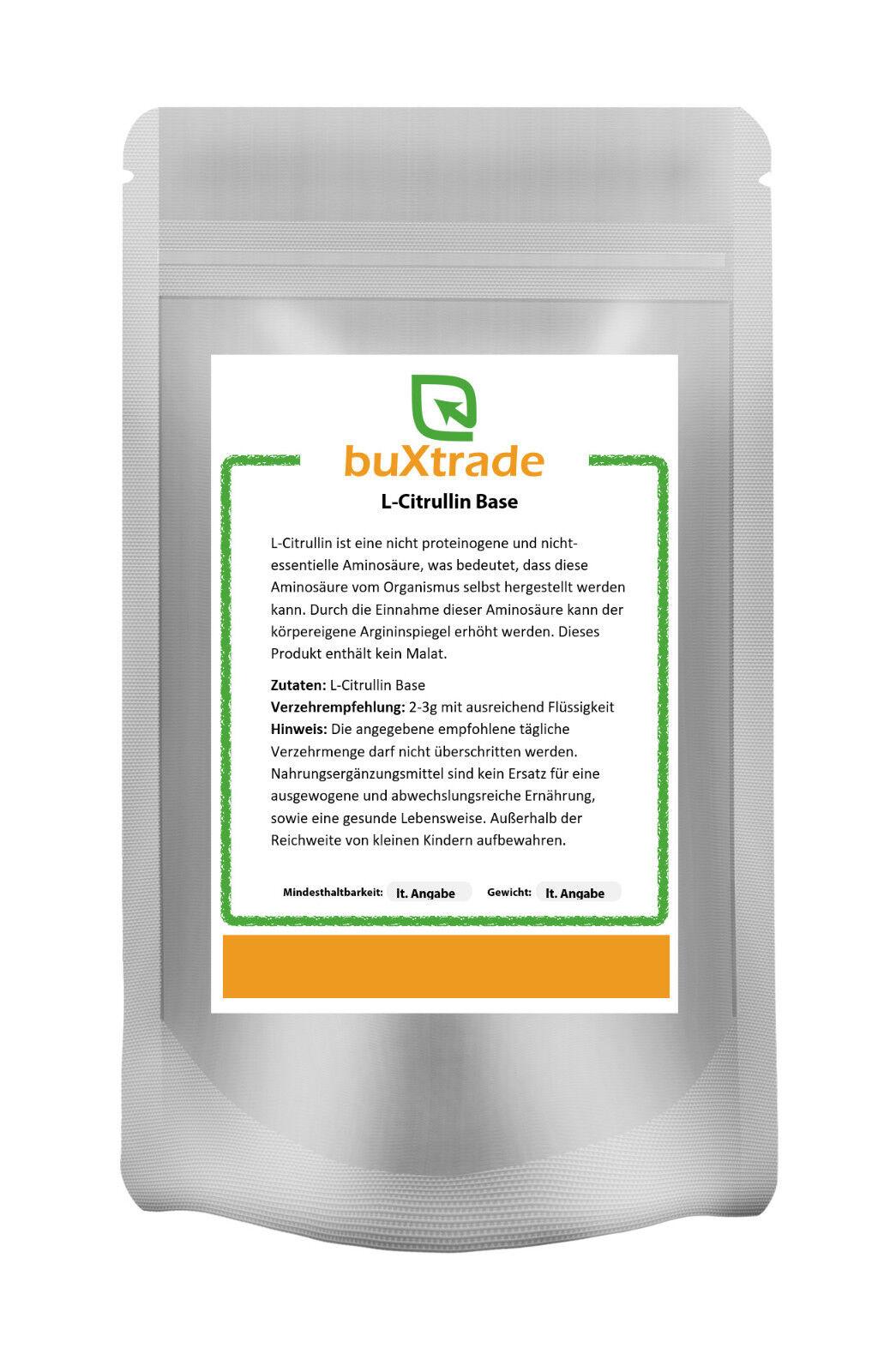 500 g L-Citrullina BASE - Rein amminoacido SENZA MALAT