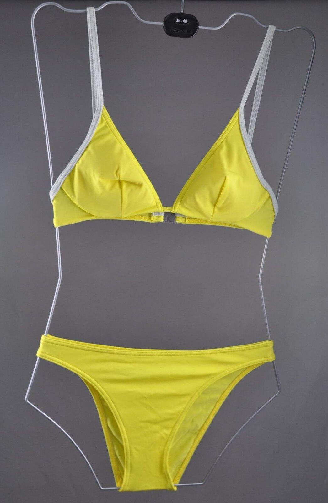 Nike Bikini Damen Gr. 38 B Schwimmanzug Swimsuit Sport schwimmen gelb EWD7937