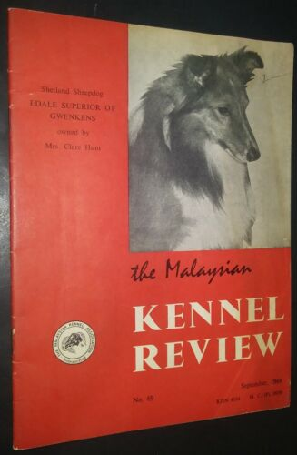 The Malaysian Kennel Review Shetland Sheepdog Cover Sept 1969