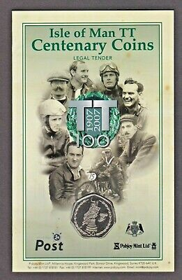 UNC 2007 ISLE OF MAN TT TROPHY 50p COIN IN OFFICIAL ISSUE POST OFFICE GIFT PACK