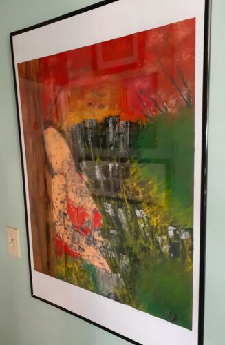 Large Original Abstract Oil Painting - $85.00