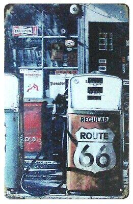US SELLER, gas station garage Route 66 tin metal sign inexpensive home decor (Inexpensive Home Decor)