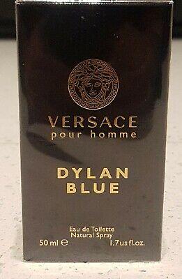 Versace Dylan Blue Pour Homme 50ml Eau De Toilette EDT Spray For Men