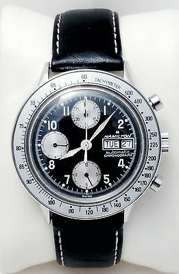 Vintage Hamilton Stainless Steel 3 register Chronograph Automatic men's watch