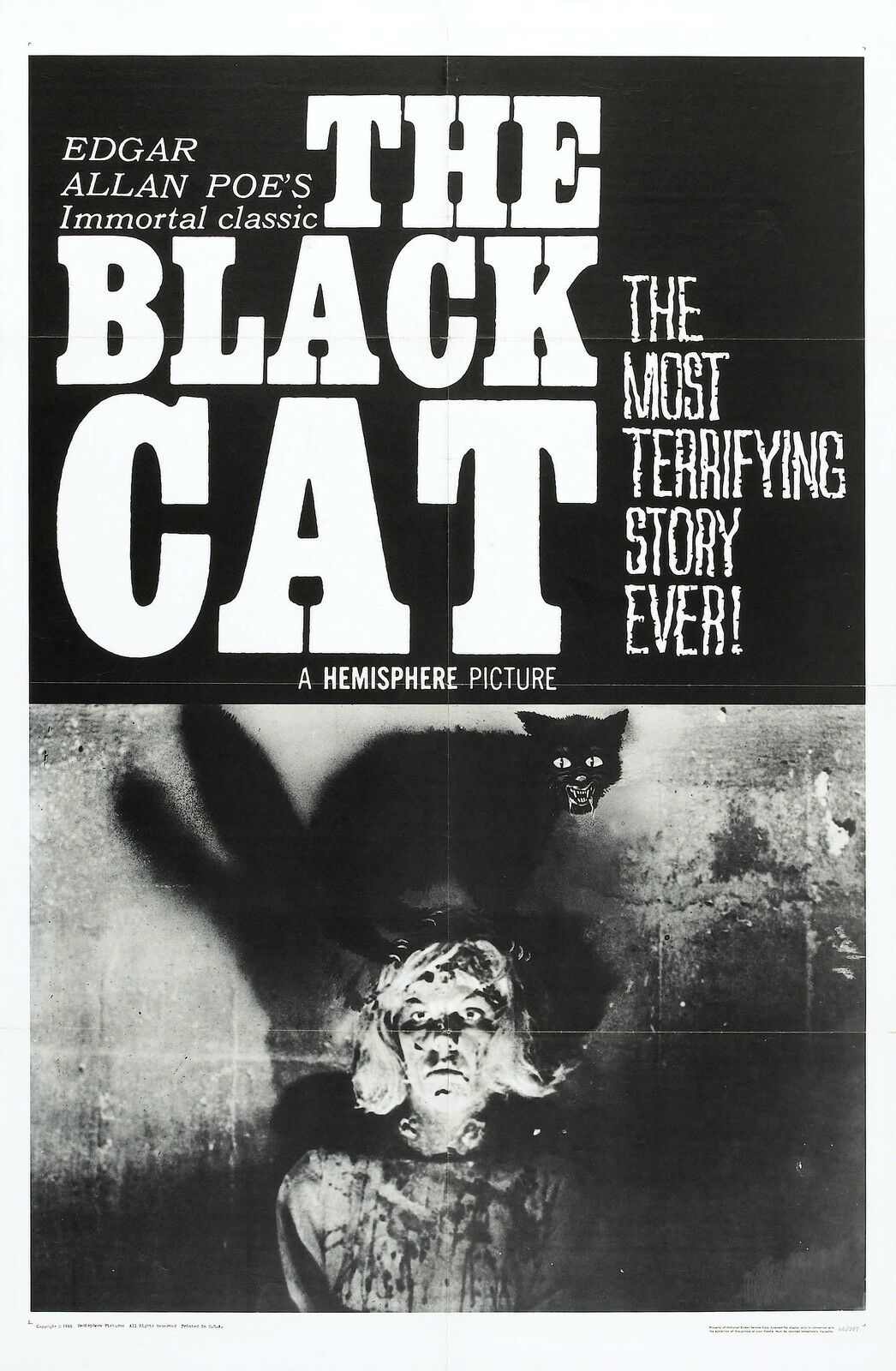 THE BLACK CAT Movie Poster 1966 Edgar Allan Poe Horror Classic | eBay