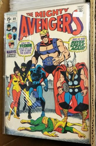 Avengers #68 Marvel Comic 1969 NM/MT 9.8 White pages Silver Age