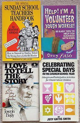 Lot 4 Sunday School Teacher Youth Volunteer Handbook Special Days of Church Year - Sunday School Teacher