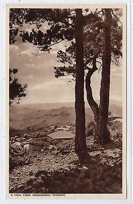 A VIEW FROM PRODHROMOS: Cyprus postcard (C22699)