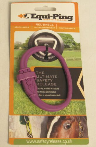 EQUI-PING Safety Release - PURPLE - New (USA Shipper)