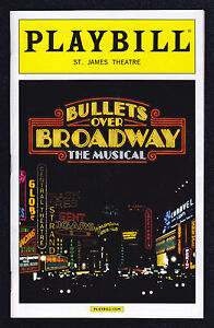 Bullets Over Broadway / Playbill / Opening Night / Woody Allen / April 2014