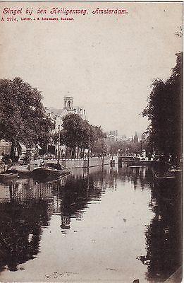 Netherlands Amsterdam - Singel bij den Keiligenweg old unused postcard