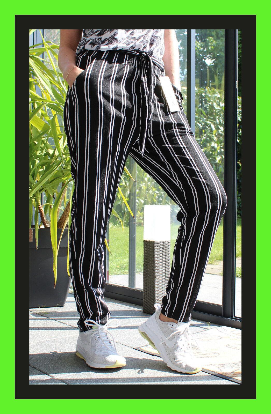 Fashion Hosenrock Streifen Hose Weite Sommerhose lockere Hose Harem gestreift 68