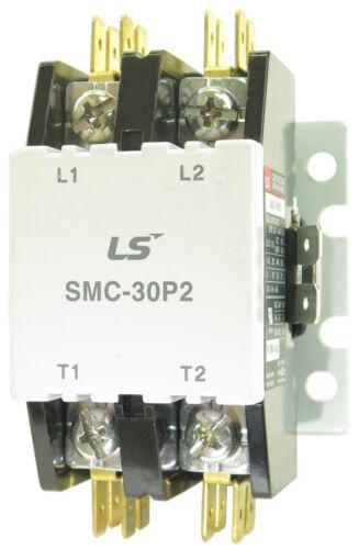 NEW SMC-30P2-120 DEFINITE PURPOSE CONTACTOR 2POLE 110/120V COIL 30 FLA 40 RES