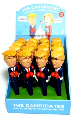 16 DONALD TRUMP BOXING / TALKING FUNNY PENS With Display Box Collectible NEW