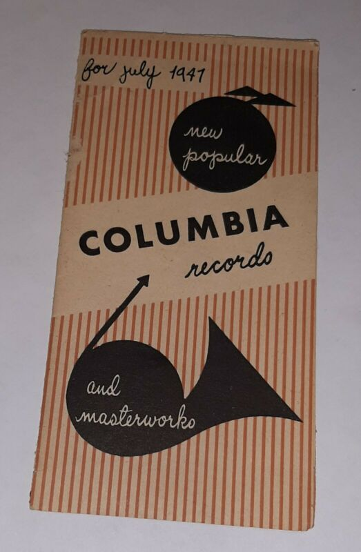 Columbia Records Advertsing Booklet