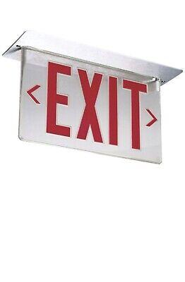 New Emergency Exit Sign Lithonia Lighting Edge Lit Led Lrp 1 Rmr 120277 Pnl