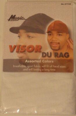 - Magic Sporty Visor Du-rag-White 100% Cool Mesh Fiber Breathable Superior Stretch