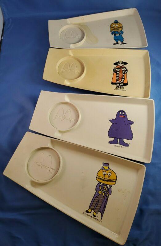 4 Vintage McDonalds Plastic Tray With Drink Holder Simon Marketing Inc.