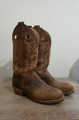 Womens Brown 12in Double H Boots Size 8.5M