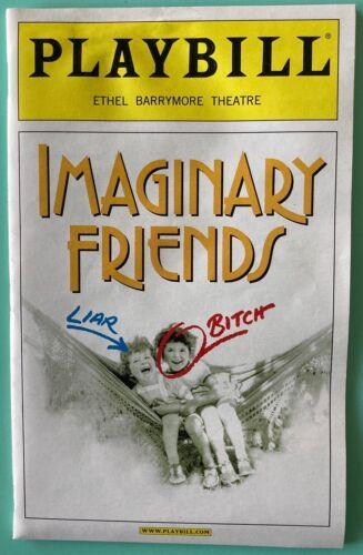 Playbill Imaginary Friends Swoosie Kurtz Cherry Jones Harry Groener Creased 2002