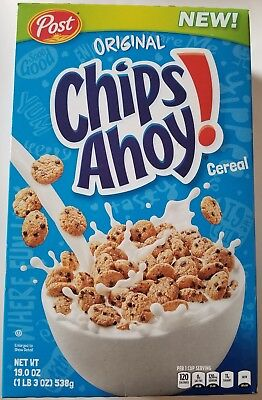 NEW 2017 POST CHIPS AHOY! CEREAL 19 OZ FREE WORLDWIDE SHIPPING USA SELLER