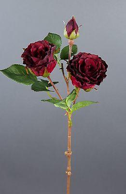 Rosenzweig 36cm salmon JA Kunstblumen künstliche Blumen Rose Seidenblumen