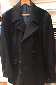 Ted Baker Black Men Wool Coat size 6