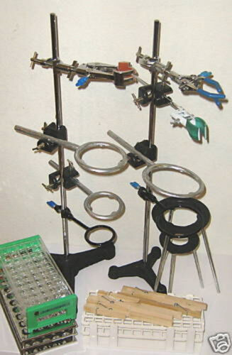 Lab Stand Set Rack Clamp Physics Chemistry Biology New