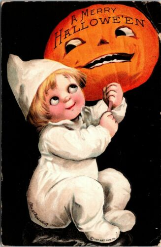 Clapsaddle A Merry Halloween Embossed Postcard