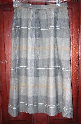 Liz Claiborne 10 S True Vintage A-Line Skirt Wool Plaid Checked Flare Pockets US
