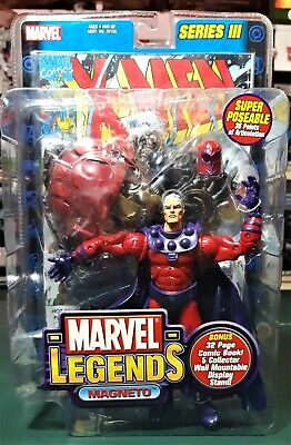 "MARVEL LEGENDS TOYBIZ 6"" SERIES #3 MAGNETO FIGURE 2002"