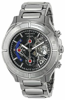 Versace Men's VK8010013 DV ONE Skeleton Automatic Silver-tone Watch