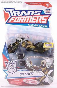 OIL SLICK Transformers Animated Decepticon Deluxe Class 2008 NEW