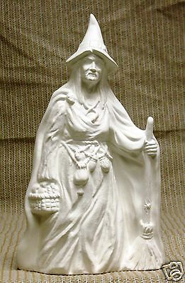 Ceramic Bisque Witch with Broom Kimple Mold 2247 U-Paint Ready To Paint