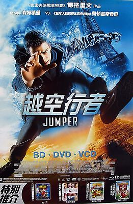 Jumper Asian Movie Poster Hayden Christensen Jamie Bell Rachel Belson Diane Lane