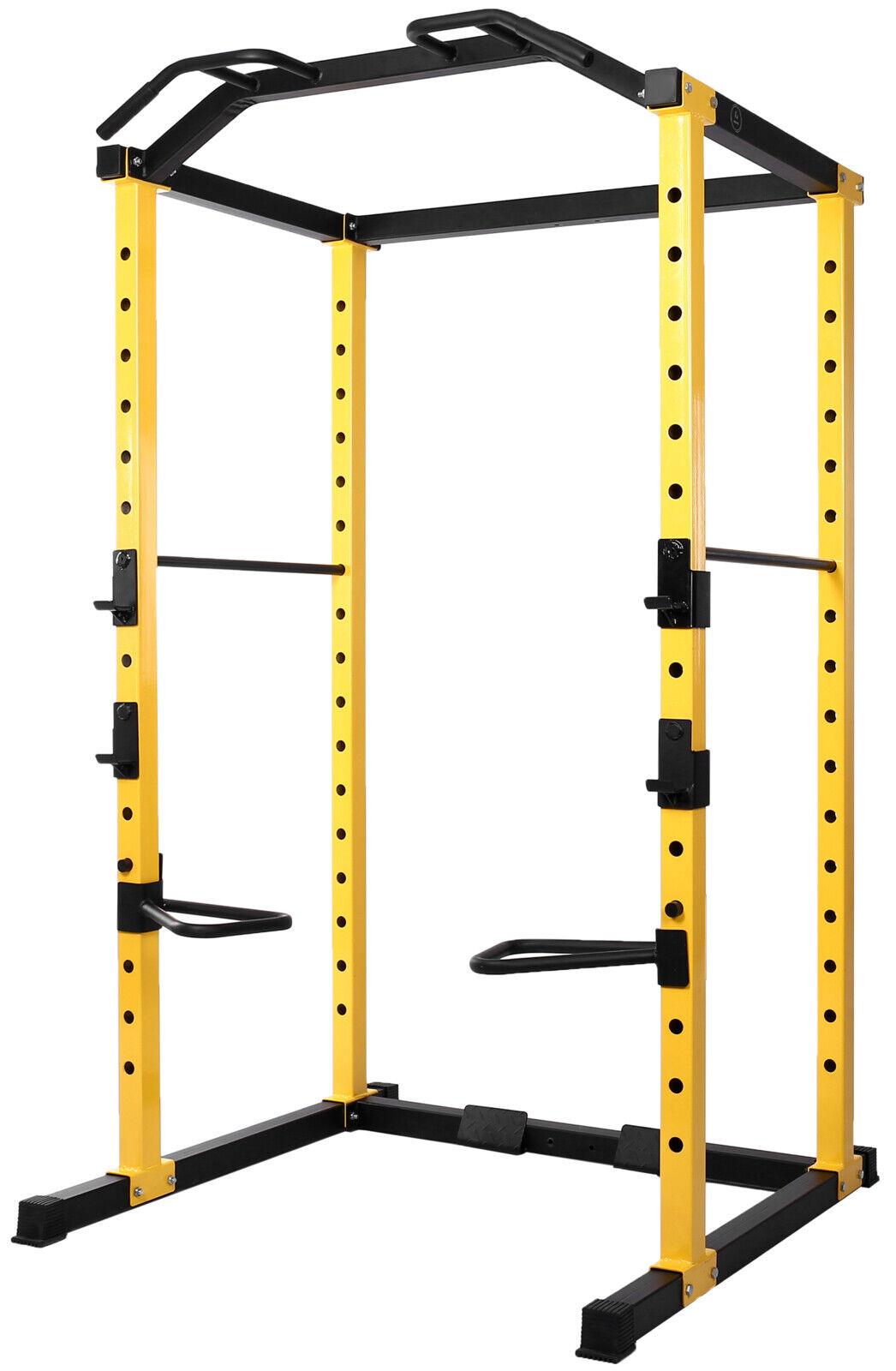 Power Cage Multi-Function Adjustable Squat Rack Home Gym Bod
