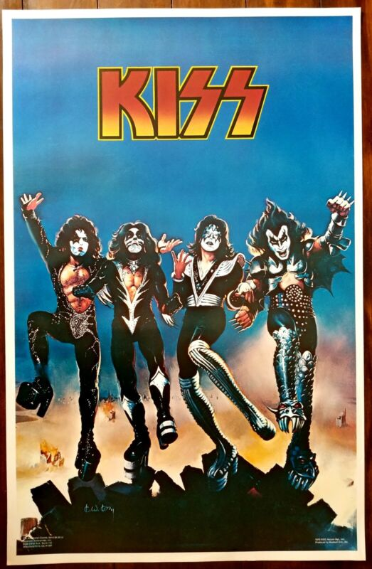 KISS Aucoin Vintage Rare Destroyer Poster 1976 Boutwell NOS