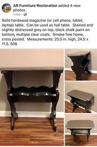 Solid wood side/hall/magazine table