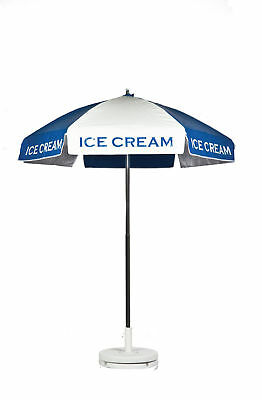 Ice Cream Vendor Cart Concession Umbrella