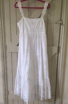 J Crew White Sun Dress UK Size 12