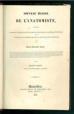 LAUTH ERNEST-ALEXANDRE NOUVEAU MANUEL DE L'ANATOMISTE SOC. BELGE LIBRAIRIE 1837