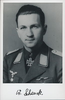 Wolfgang Schenck signed photo. Luftwaffe Ace.